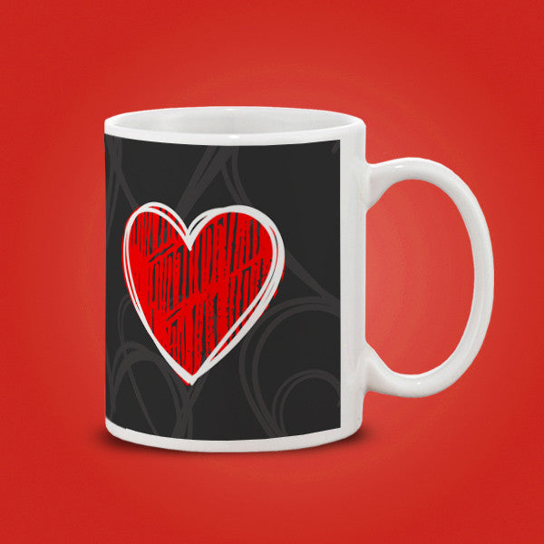 Red Heart-WT Mug