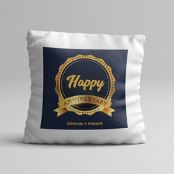 Blue Anniversary Pillow