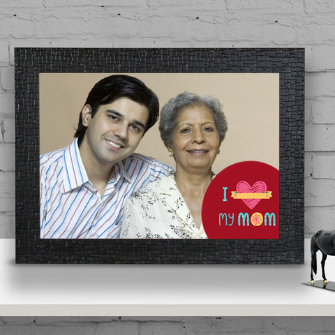 I Love My Mom Black Frame