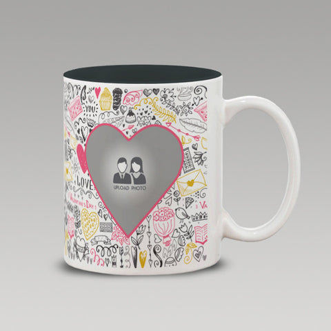 Love bg heart Mug