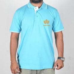 Cyan Collor Corporate T-Shirt