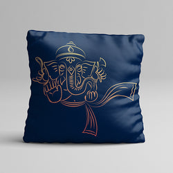 Blue Ganesh Full Printed Pillow