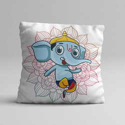 Blue Abstract Ganesh Full Printed Pillow