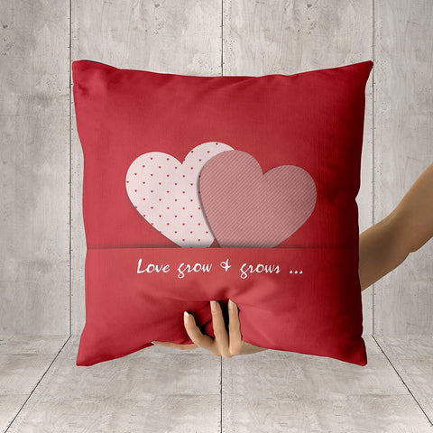 Love Grow and Grow Full Printed Pillow