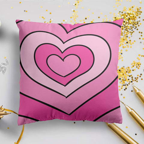 Pink Love Heart Full Printed Pillow