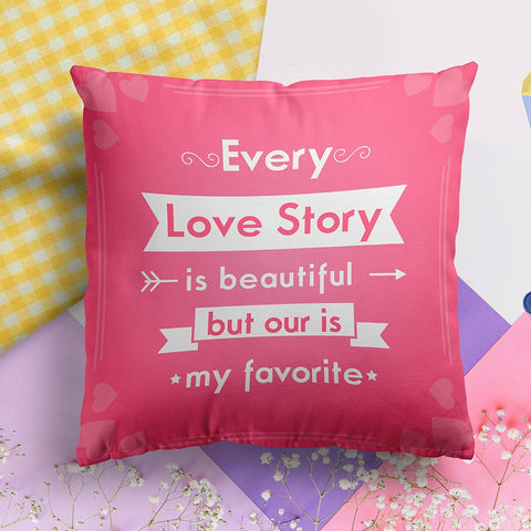 Love Story Full Printed Pillow