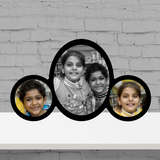 3 Pic oval Frame-Kids
