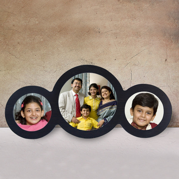 3 Picture Circle Frame-Family