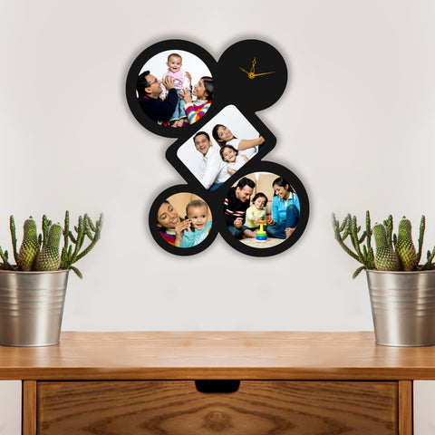 4 Pic with Clock Wenge