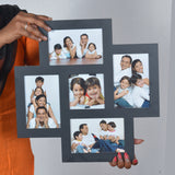 4pic Frame with clock