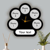 5 Pic Circle with Text & Clk