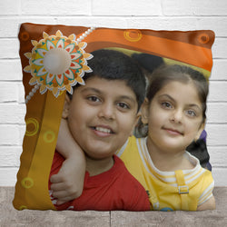 Rakhi with photo Pillow