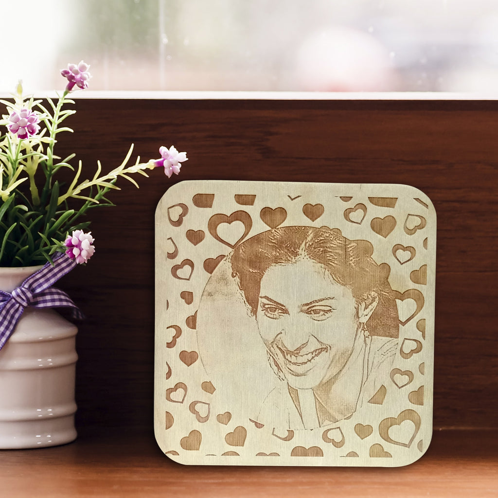 Girl Wooden Engraving