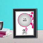 Couple Cycle with Photo Frame