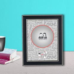 Abstract Love with photo Frame