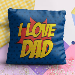 Luv You Dad Full Printed Pillow