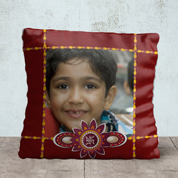 Brother with Rakhi Pillow