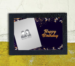 Gold abstract Happy Birthday Frame