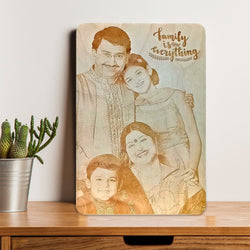 Family is Everything Wooden Engraving