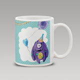 Blue Happy Birthday Clip art Mug