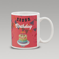 Abstract Happy Birthday mug