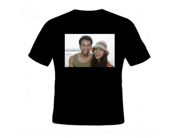 Couple T-shirt-Colour: Black