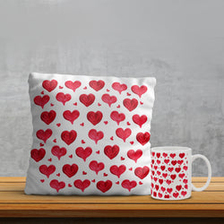 Hearts Pillow & Mug