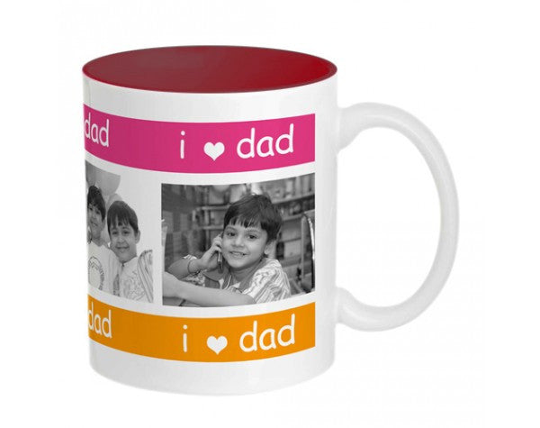 Dad Mug-Inside colour: Maroon