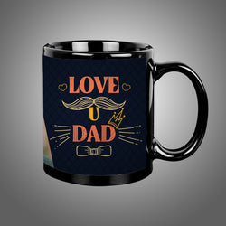 Dad Love U Balck Mug