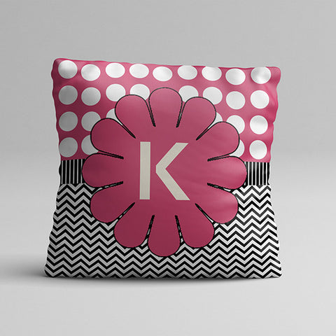 K Letter Texture Full Printed Pillow