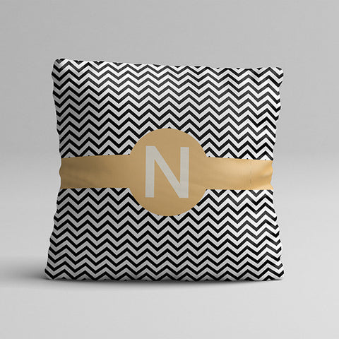 N Letter Texture Full Printed Pillow