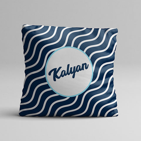 Name blue Texture Full Printed Pillow