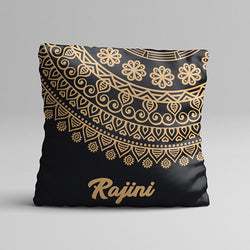 Flower Gold Texture Full Printed Pillow