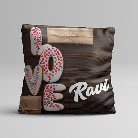 Love Texture Texture Full Printed Pillow