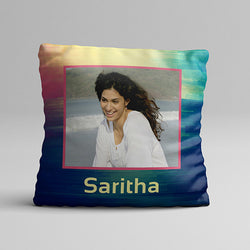 Multi Texture Full Printed Pillow