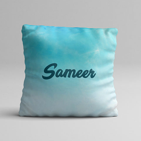 Sky Blue Texture Full Printed Pillow