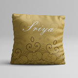 Name with Gold Texture Full Printed Pillow