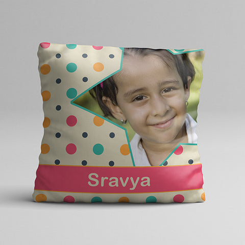 Kids Multi Color Texture Full Printed Pillow
