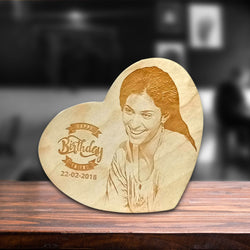 Birthday Day Wooden Engraving