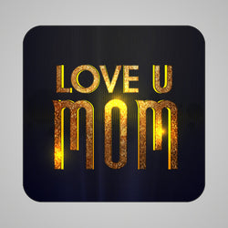 Gold Love U Mom Magnet