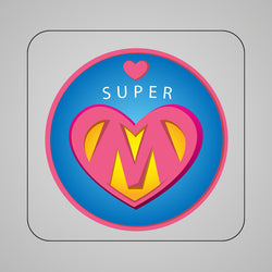 Blue Super Mom Magnet