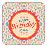 Abstratc Happy Birthday Magnet