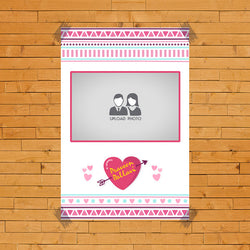 Heart Pink with name Poster