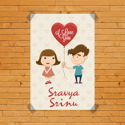 Couple With Name Poster
