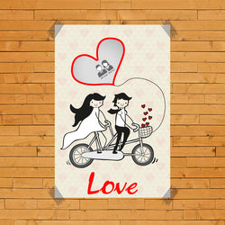 Couple Love Cycle Poster