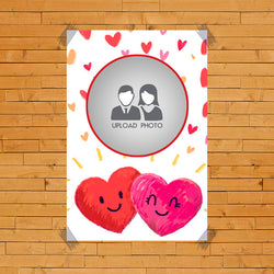 Couple Heart with photo Poster