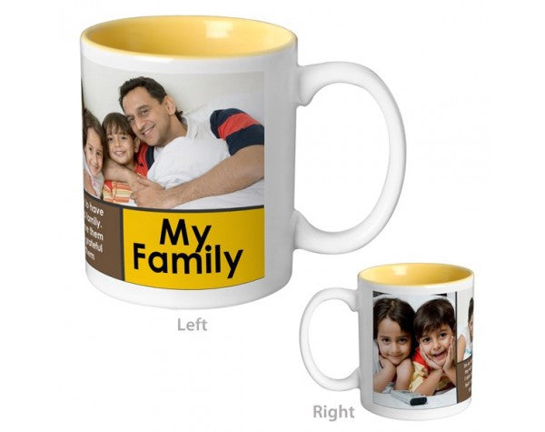 My family Mug-Inside colour: Yellow