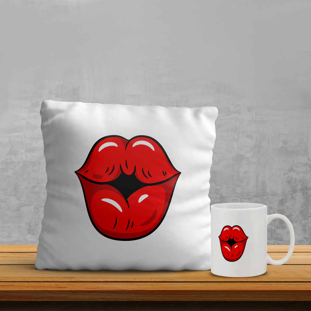 Kiss Pillow& Mug