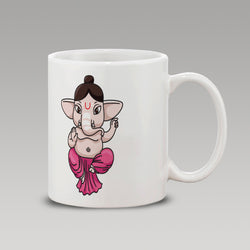 Pink Abstract Ganesh Mug