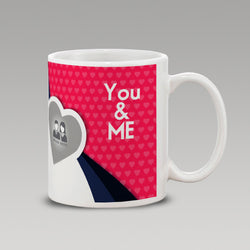 You and Me heart abstract Mug